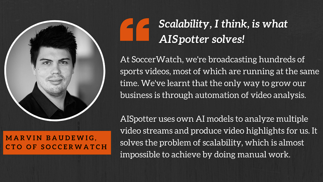 SoccerWatch Scaling Video Production